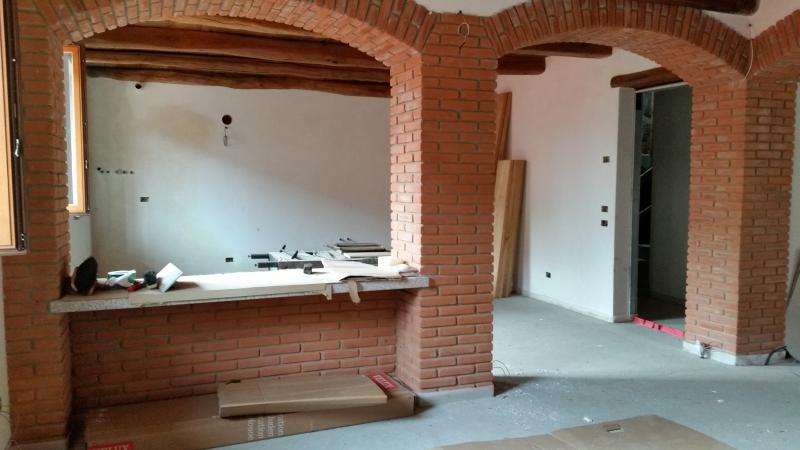 Strutture portanti in laterizio impresa edile manzoni - Archi mattoni vista in cucina ...